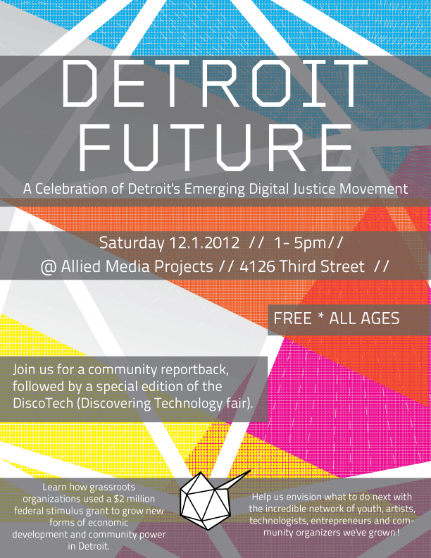 Detroit Future celebration flyer